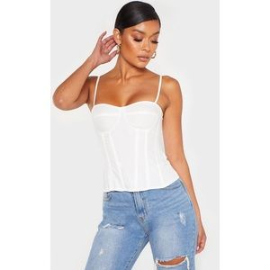 🌟3 for $15🌟 PLT white corset tank